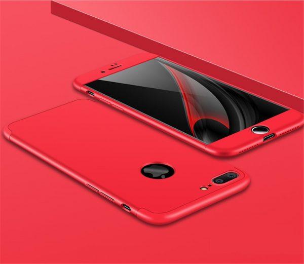 iPhone 7 Pattintós 360° (piros)
