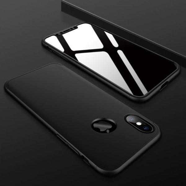 iphone X 360°pattintós (fekete)