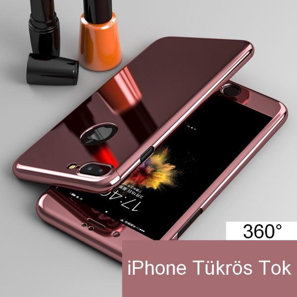 iphone tükrös 360° (rose)