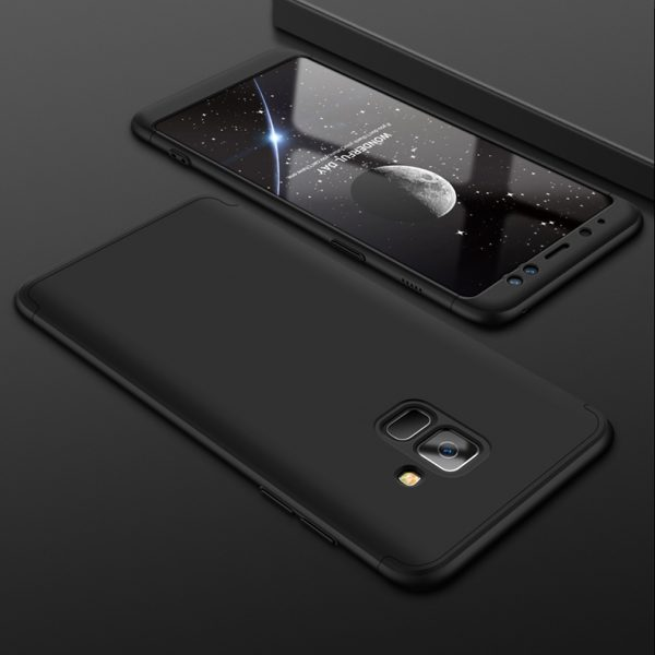 Samsung A8 Pattintós (Fekete)