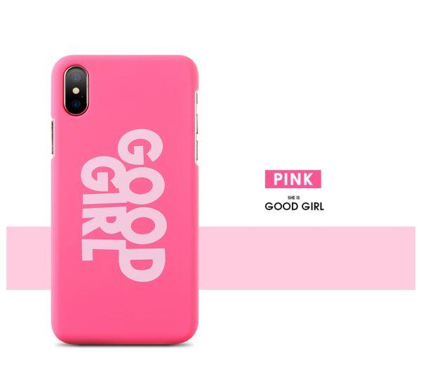 iphone x good girl tok (pink)