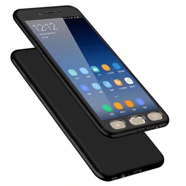 Samsung J3 2017 Pattintós üvegfóliával (fekete)