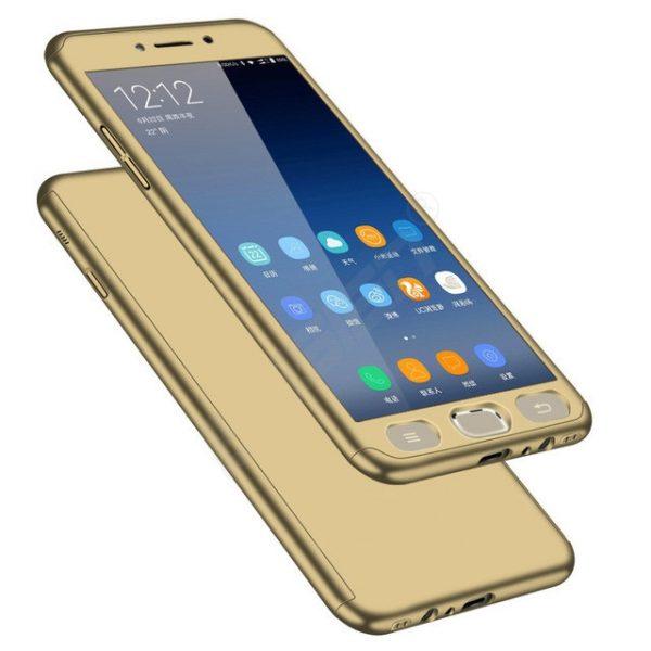 Samsung J3 2017 Pattintós üvegfóliával (arany)