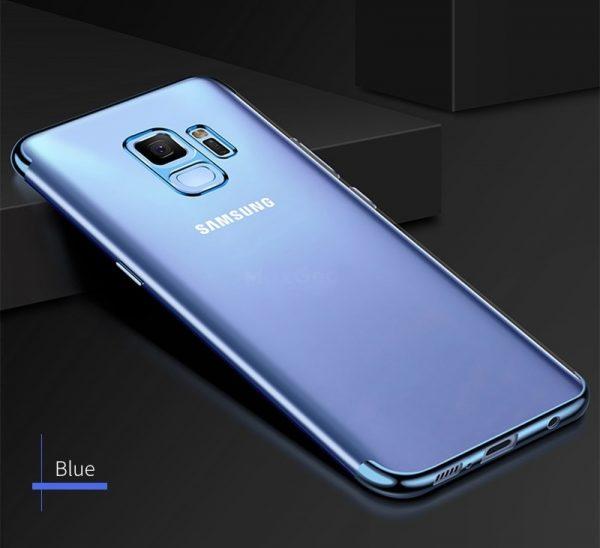 Samsung J7 2018 szilikon alul-felül fényes (kék)