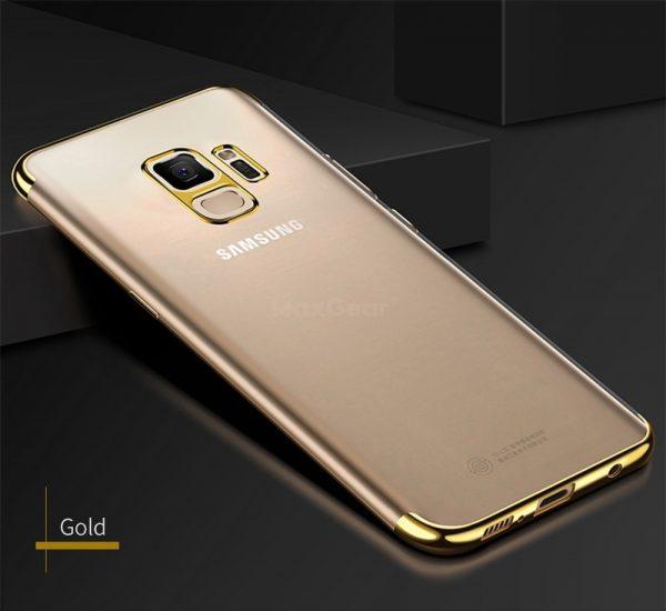 Samsung J7 2018 szilikon alul-felül fényes (arany)
