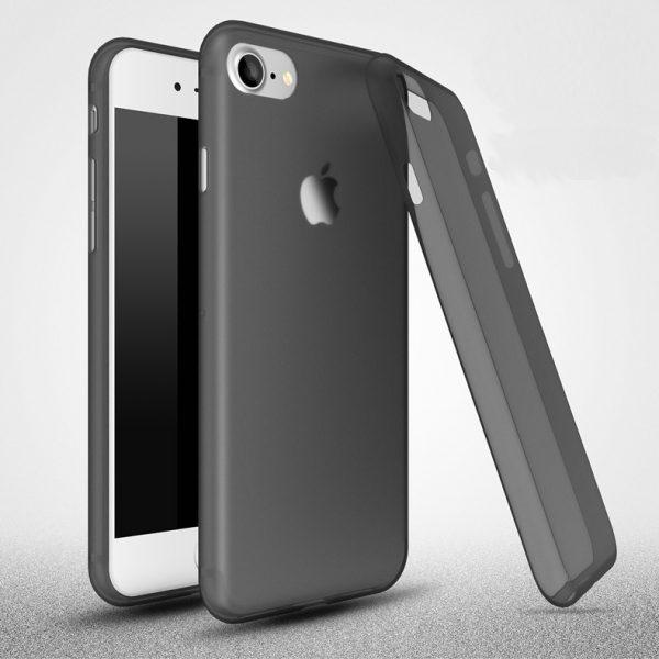 iPhone 6 matt átlátszó szilikon (fekete)