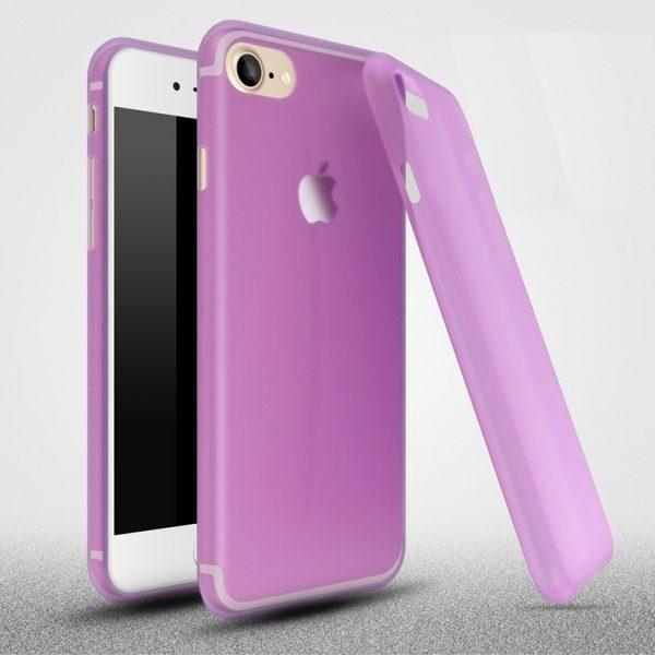 iPhone 6 matt átlátszó szilikon (lila)