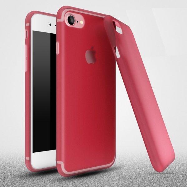 iPhone 6 matt átlátszó szilikon (piros)