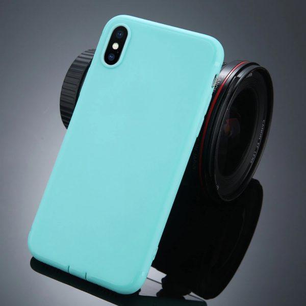 iPhone X vékony matt szilikon (világos kék)
