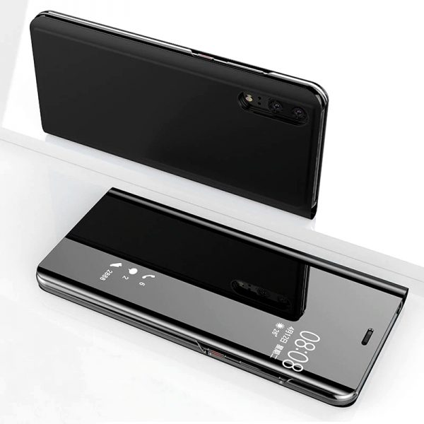 P20 tükrös flip tok (fekete)
