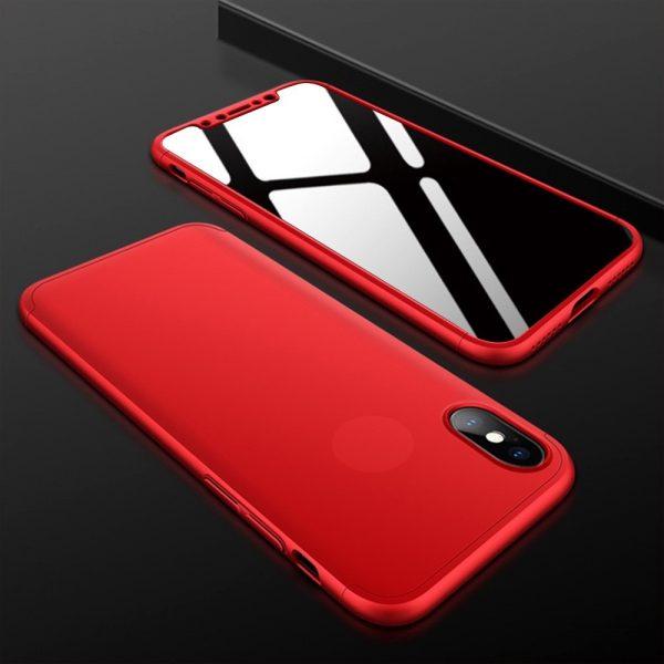 iphone X 360°pattintós (piros) Lyuk nélkül