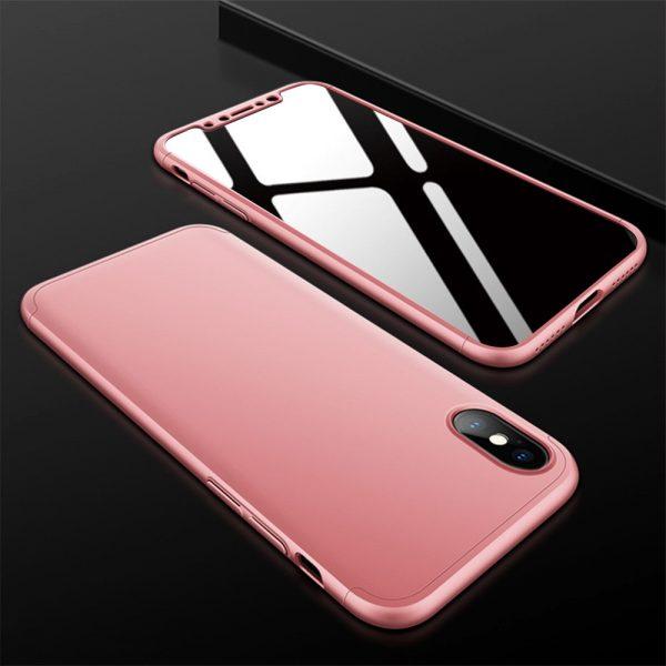 iphone X 360°pattintós (pink)